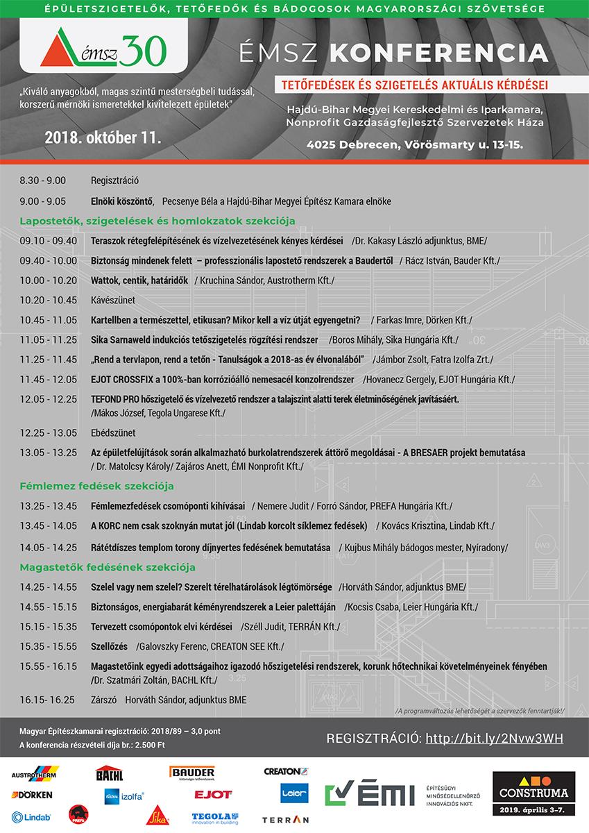 Meghívó október 11-én Debrecenben megrendezésre kerülő 3 pontos építész konferenciára
