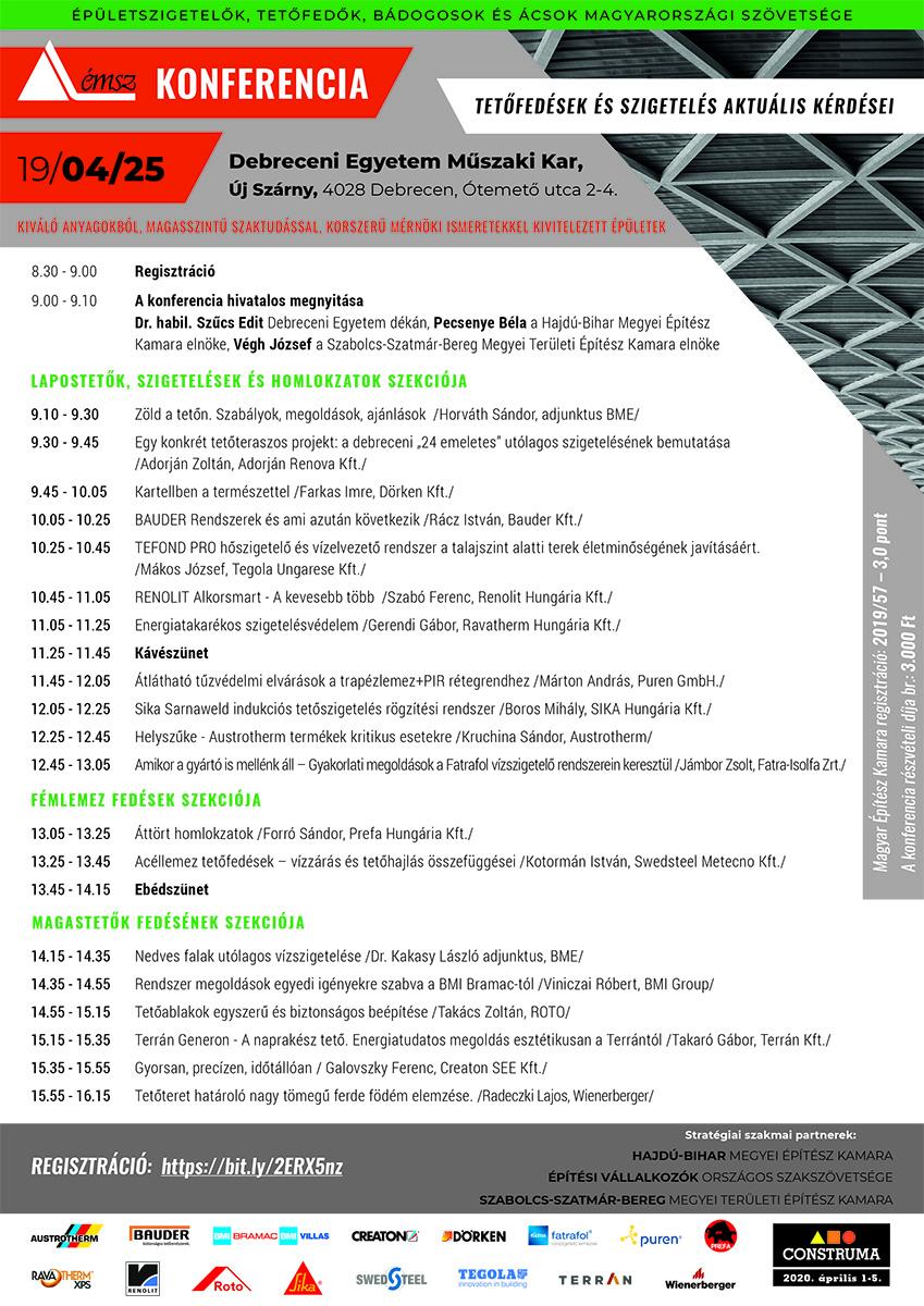 MEGHÍVÓ – ÉMSZ Konferencia Debrecen, április 25.