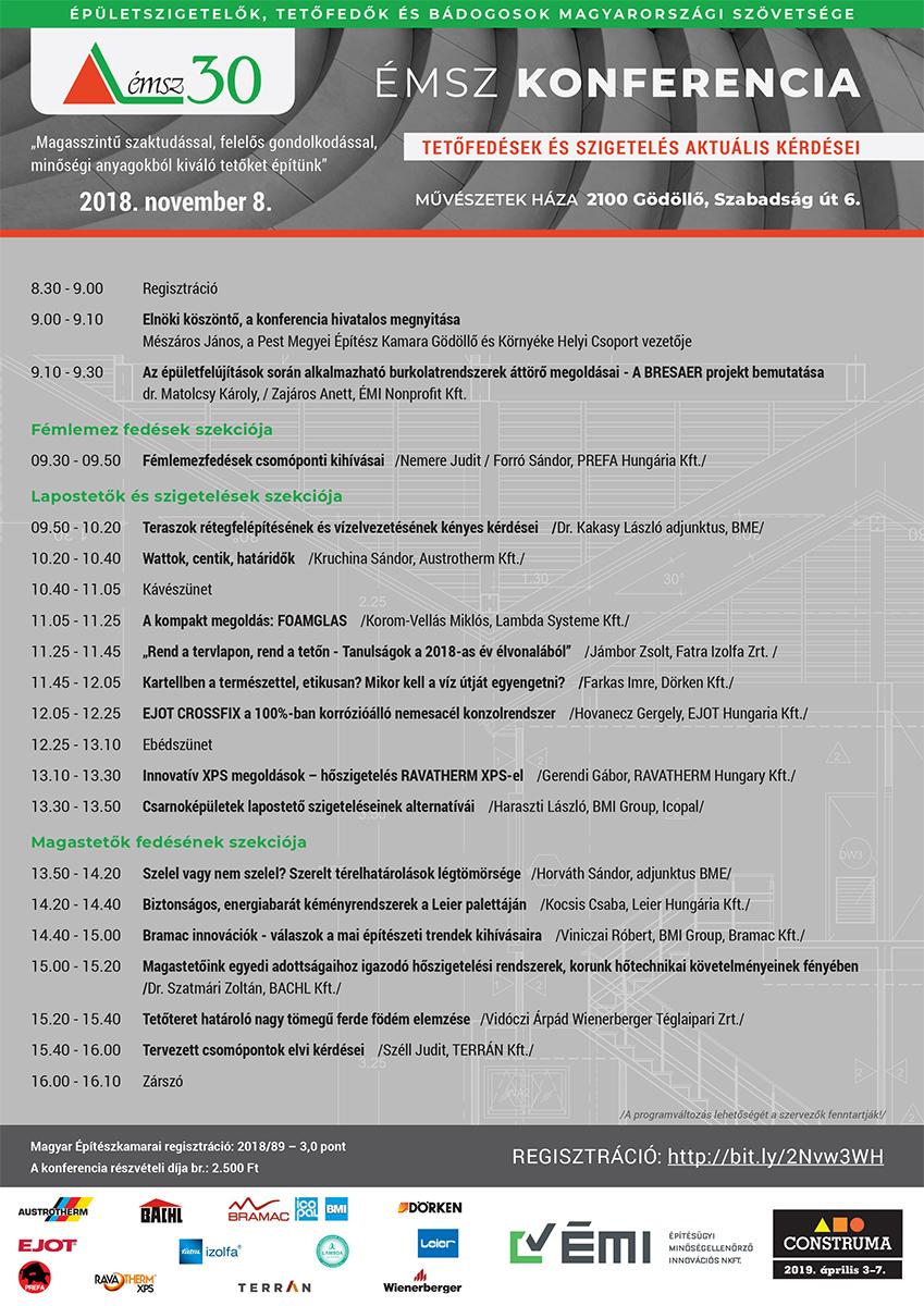 Meghívó november 8-án Gödöllőn megrendezésre kerülő 3 pontos építész konferenciára