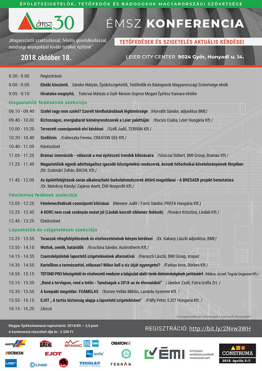 Meghívó október 18-én Győrben megrendezésre kerülő 3 pontos építész konferenciára